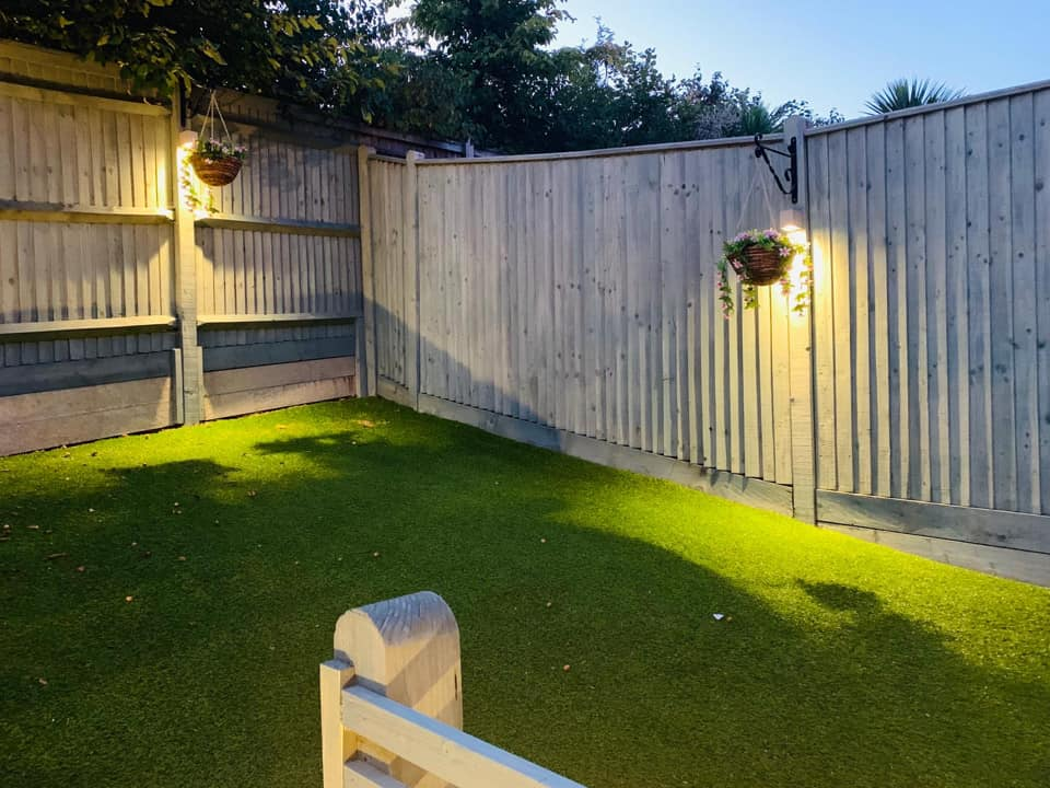 Outdoor Back Garden Lighting Contractors in Hastings East Sussex and Kent